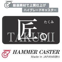画像3: 自在キャスタープレート式(ストッパー付)ハンマーキャスター